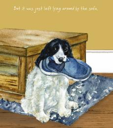 sprocker greeting card little dog laughed anna danielle