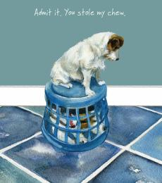 jack russell greeting card little dog laughed anna danielle