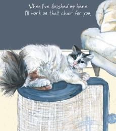 Little Dog Laughed Dolly Cat Greeting Card