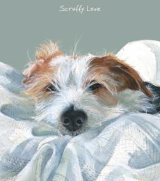 Little Dog Laughed Scruffy love Greeting Card