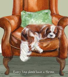 king charles spaniel greeting card little dog laughed anna danielle