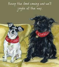 Little dog laughed christmas jingle card