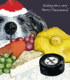 merry cheesemas card