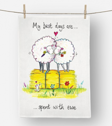 ewe tea towel
