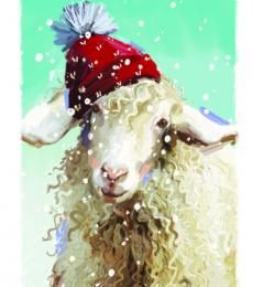 sheep with hat christmas tags ling design