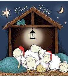 National Animal Welfare Trust sheep Silent Night charity Christmas card
