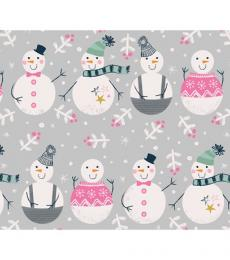christmas wrapping paper snowmen whistlefish