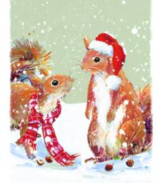 squirrel christmas tags ling design
