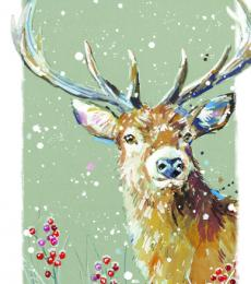 stag christmas tags ling design
