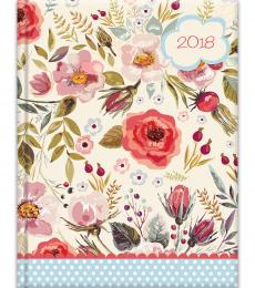 Vintage Blooms A5 Diary 2018