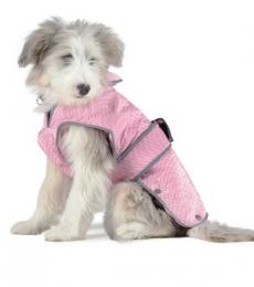 Ancol pink city mac dog coat small