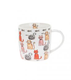 cartoon cat multiple mug