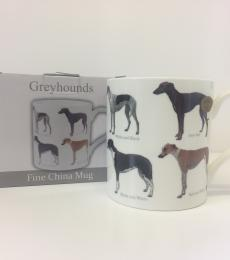 greyhound dog breed mug