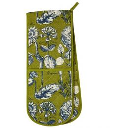 Ulster Weavers RHS Rosemoor Green Double Oven Glove