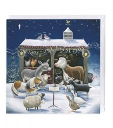 whistlefish farm yard carols christmas card