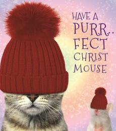 purrfectchristmouse christmas card