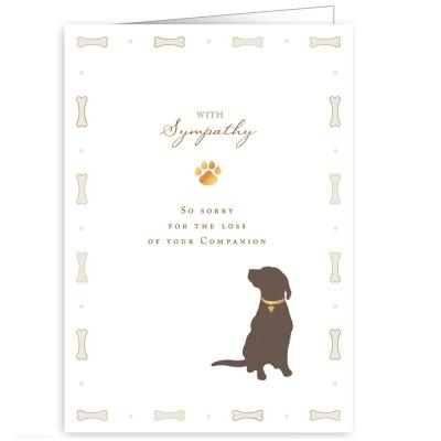 Quire Publishing With Sympathy Sorry for your loss Greeting Card pet dog