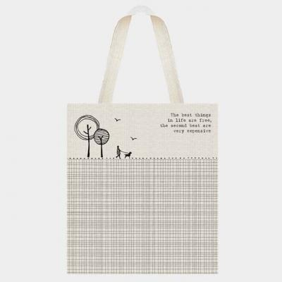 canvas shopping bag best things in life are free east india