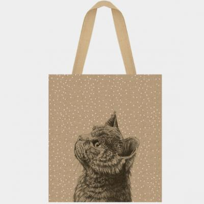 Jute Shopping Bag Cat East of India ltd