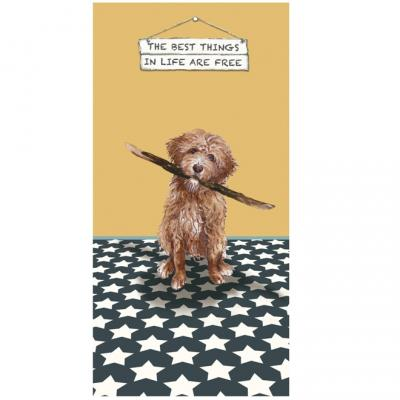 Little Dog Laughed Best Things Greeting Card golden doodle cockerpoo