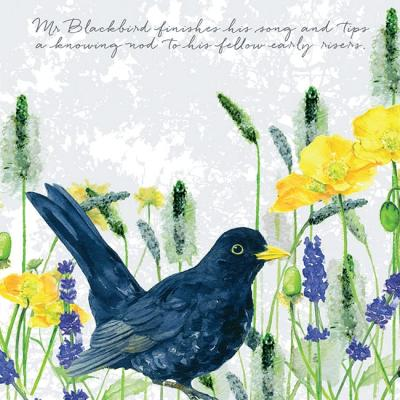 blackbird greeting card little dog laughed anna danielle