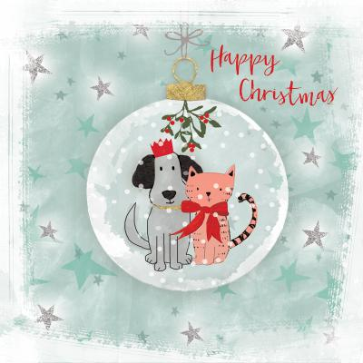 best friends christmas cards cat dog