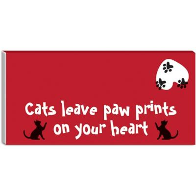 cats leave paw prints on your heart desktop note pad otterhouse