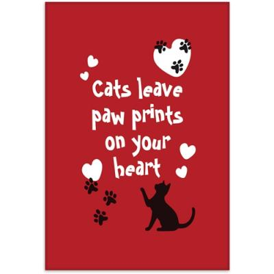 cats leave paw prints on your heart fridge magnet otterhouse