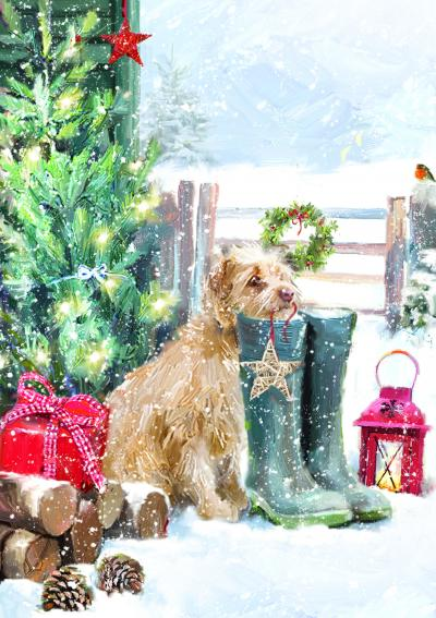 christmas walkies dog cards