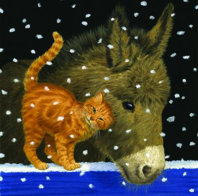 cosy friends cat donkey christmas