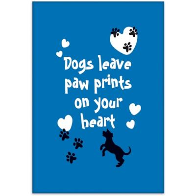 dogs leave paw prints on your heart magnet otterhouse