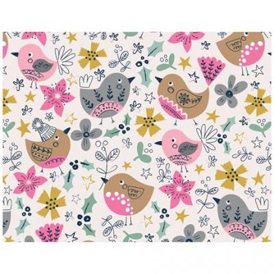 christmas wrapping paper festive birds whistlefish