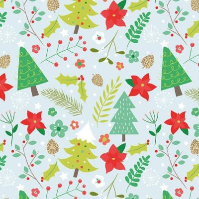 Milkwood Festive Feel Christmas Wrapping paper poinsettias