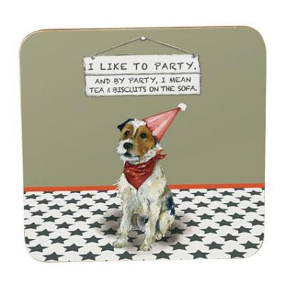 little dog laughed party coaster