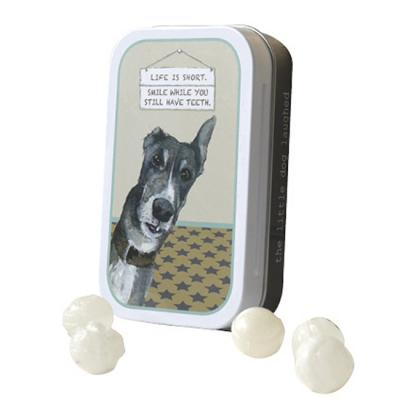 little dog laughed smile mint tin