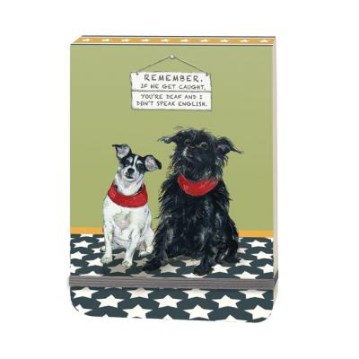 caught dogs notepad