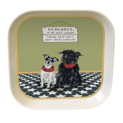 little dog laughed caught trinket tray
