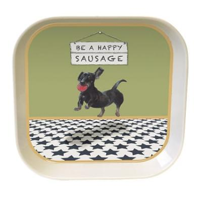 little dog laughed happy sausage trinket tray