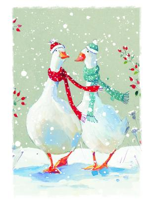 christmas geese tags ling design