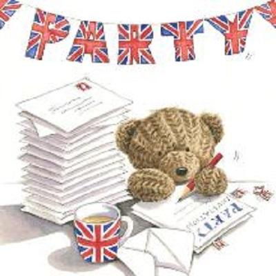 Party Teddy Greeting Card