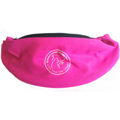 National Animal Welfare Trust charity bum belt bag bright pink