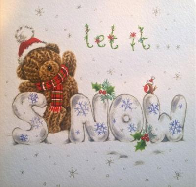 Let it snow christmas card by whistlefish single national animal let it snow christmas card by whistlefish single m4hsunfo