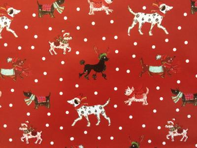 animals christmas gift wrap dog