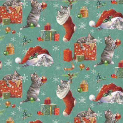 kittens in stockings gift wrap national animal welfare trust shop