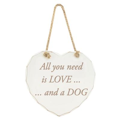 all you need is love and a dog heart shaped plaque lesser and pavey
