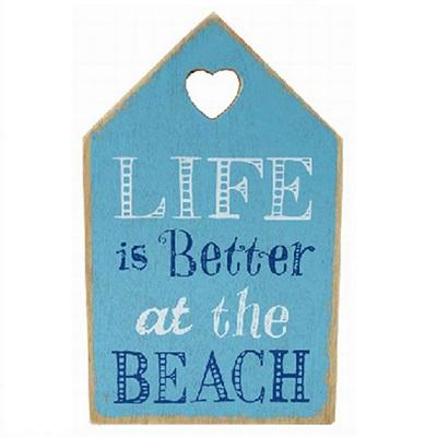 Lesser and Pavey Life is better at the beach wooden hanging plaque