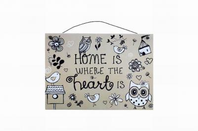 home is where the heart is metal plaque lesser and pavey