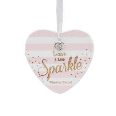 sparkle heart plaque