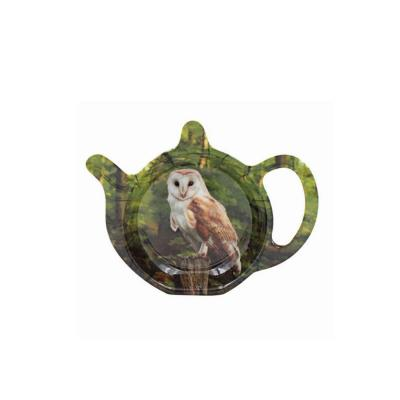 owl woodland teabag tidy