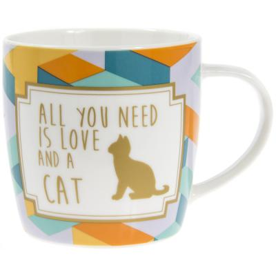 lesser and pavey leonardo collection love and a cat mug